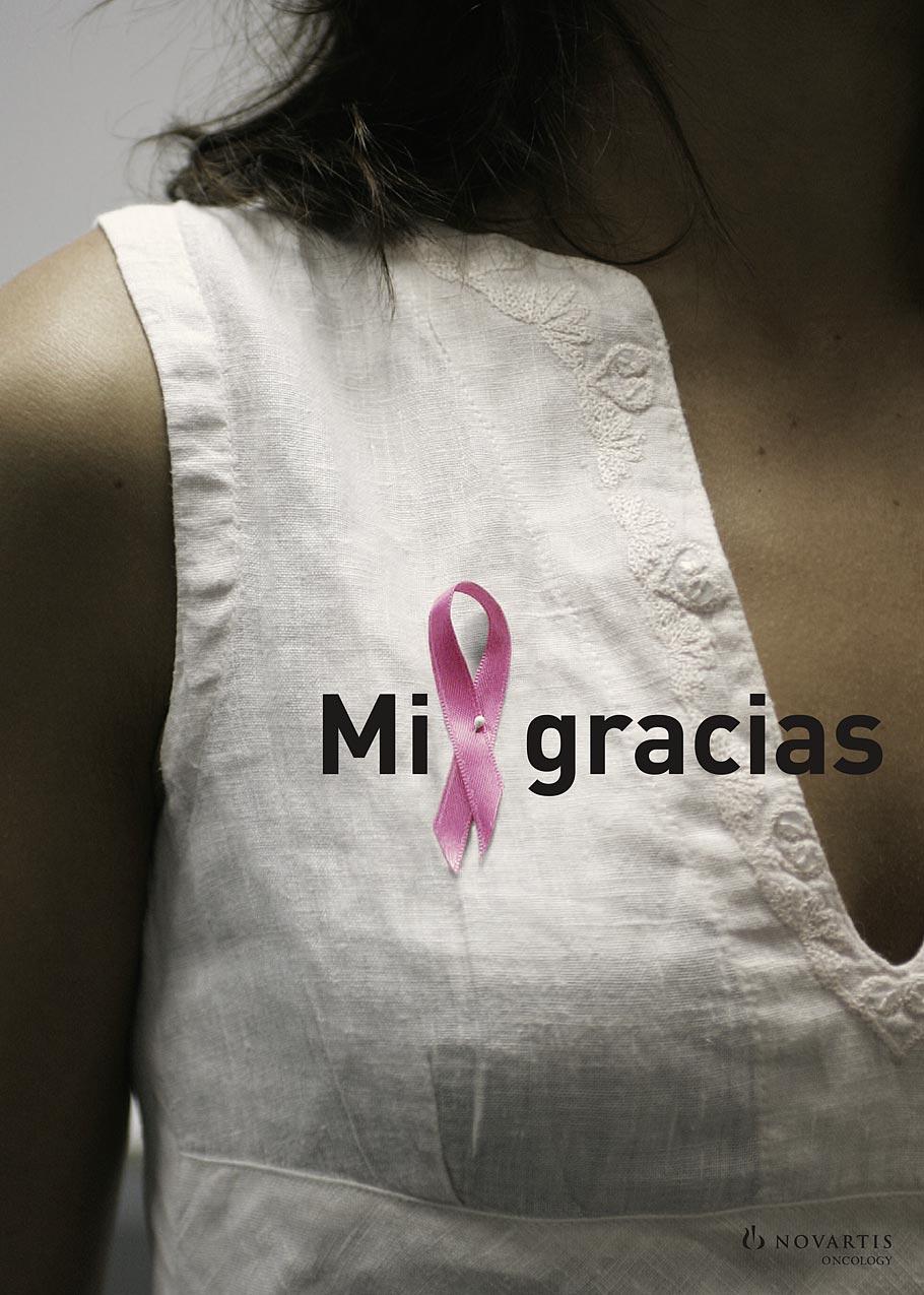 Novartis mil gracias lazo rosa